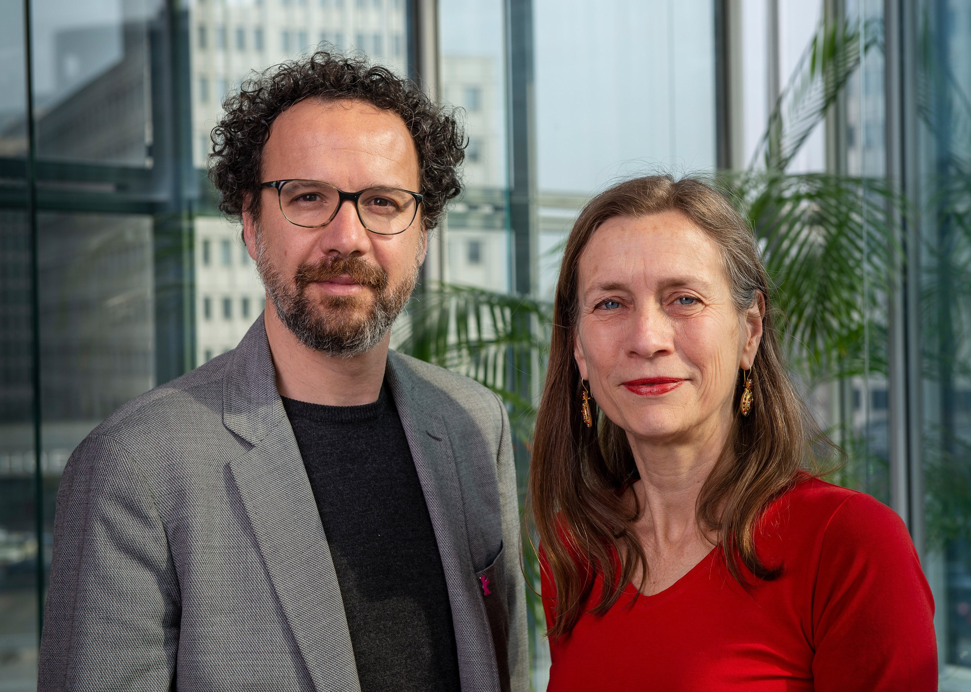 Fotografía de Carlo Chatrian y  Mariette Rissenbeek, directores del festival.