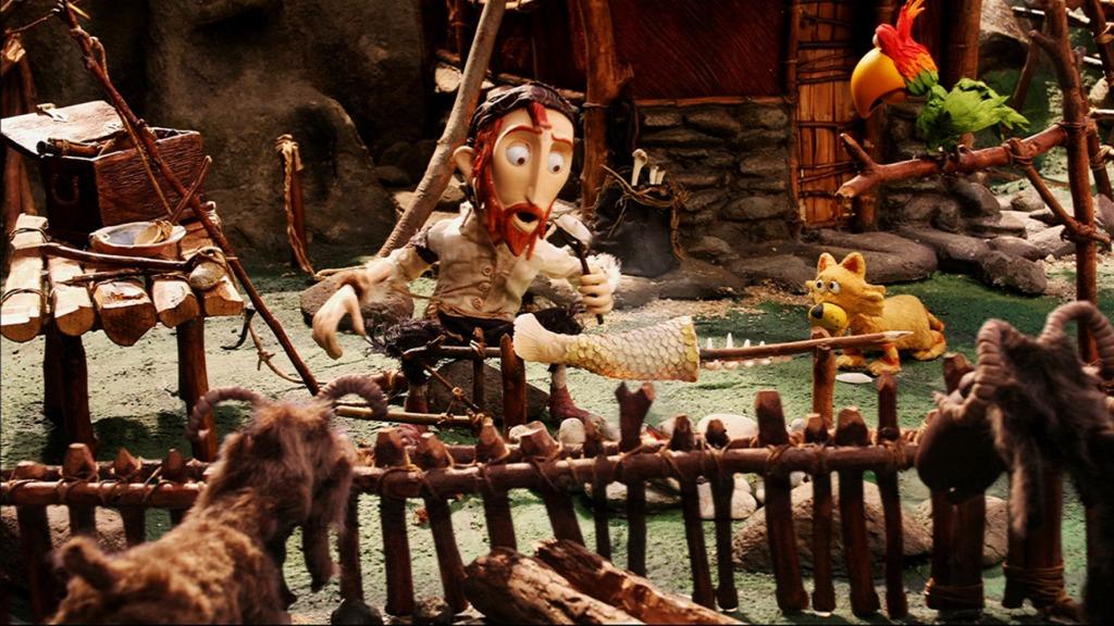 Fotograma de la película Selkirk, el verdadero Robinson Crusoe.