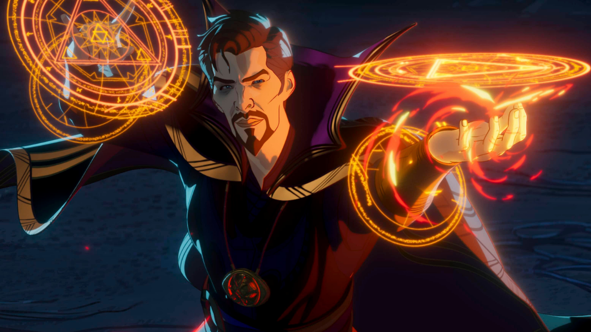 "Fotograma de la serie animada ""What If....?"" de Marvel Studios."