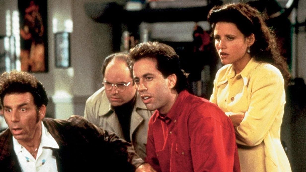 """Fotograma de la serie """"Seinfeld"""", que desde el 1° de octubre estrenó sus nueve temporadas en la plataforma Netflix."""